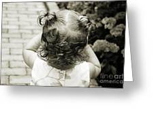 A Girl And Her Curls Greeting Card