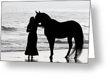 A Girl And Her Horse Greeting Card