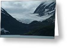 A Glacier Receding - II Greeting Card