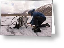 A Glaciologist Tinkers With A Steam Greeting Card