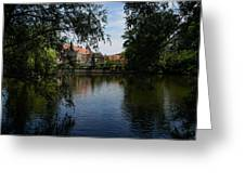 A Glimpse Through The Trees - Bruges Belgium Greeting Card