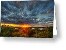 A Glorious Minneapolis Sunset Greeting Card