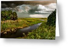 A Glow On The Marsh Greeting Card