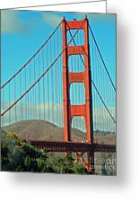 A Golden Gate View Greeting Card