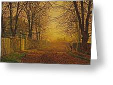A Golden Shower Greeting Card