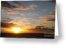 A Golden Sunrise - Singer Island Greeting Card