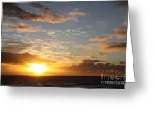 A Golden Sunrise - Singer Island Greeting Card