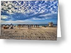 a good morning from Jerusalem beach  Greeting Card