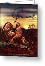 A Gourmet Cover Of A Turkey Greeting Card