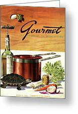 A Gourmet Cover Of Turtle Soup Ingredients Greeting Card
