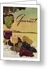 A Gourmet Cover Of Wine Greeting Card