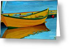 A Grand Banks Dory Greeting Card