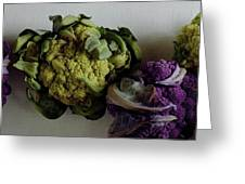 A Group Of Cauliflower Heads Greeting Card