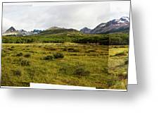 A Group Of Hikers Walk Greeting Card