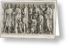A Group Of Roman Citizens Greeting Card