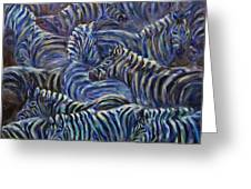 A Group Of Zebras Greeting Card