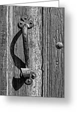 A Handle On It - Bw Greeting Card