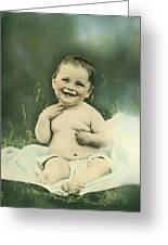 A Happy Baby Greeting Card