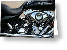 A Harley In Arlington Greeting Card