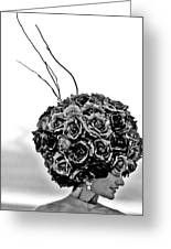 A Hat Of Roses Greeting Card