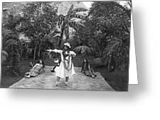 A Hawaiian Woman Dancing Greeting Card
