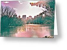 A Haze Over Central Park Greeting Card