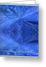 A Healing In Blue Living Waters Greeting Card