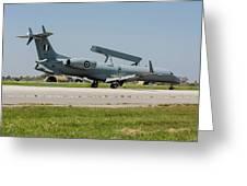 A Hellenic Air Force Emb-145 Awacs Greeting Card
