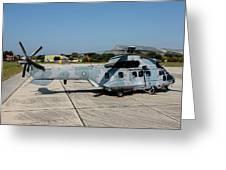 A Hellenic Air Force Super Puma Search Greeting Card