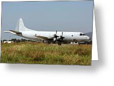 A Hellenic Navy P-3 Orion Aew Aircraft Greeting Card