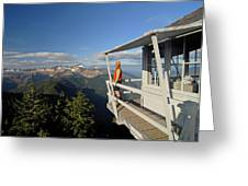 A Hiker Enjoys The View Greeting Card