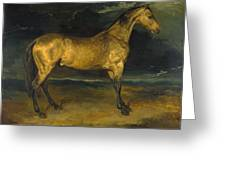 A Horse Frightened By Lightning Greeting Card
