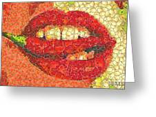 A Hot Lips Greeting Card