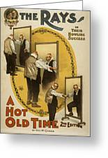 A Hot Old Time Greeting Card