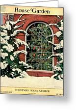 A House And Garden Cover Of A Christmas Tree Greeting Card
