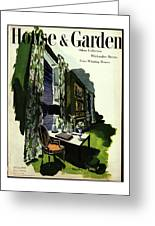 A House And Garden Cover Of A Living Room Greeting Card