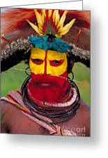 A Huli Man Greeting Card