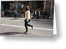 A Irish Dancer Doing Some Dancing At The 2009 St. Patrick Day Parade Greeting Card