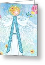 A Is For Angel Greeting Card