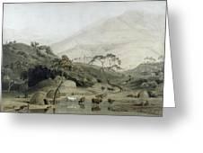 A Kaffir Village, C.1801 Wc & Graphite On Paper Greeting Card