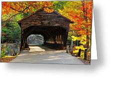 A Kancamagus Gem - Albany Covered Bridge Nh Greeting Card