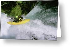 A Kayaker Running A Beautiful Spirit Greeting Card