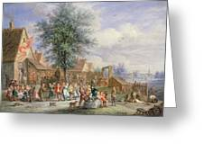A Kermesse On St. Georges Day Greeting Card by Angel-Alexio Michaut