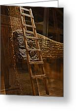 A Ladder's Rung Greeting Card