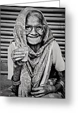 A Lady And Her Chai IIi Greeting Card