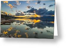 A Lake Pend Oreille Sunset  -  120601a-040 Greeting Card