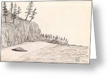 A Lakeshore... Sketch Greeting Card