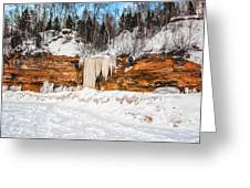A Land Of Snow And Ice Greeting Card