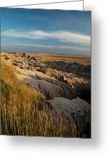 A Landscape Image Of Badlands National Greeting Card