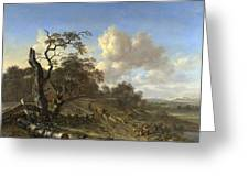 A Landscape With A Dead Tree Greeting Card